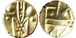 World Coins - INDIA, Indo – Dutch: Gold Fanam, 0.34gm,