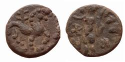Ancient Coins - ANCIENT INDIA:  INDO-SKYTHIANS,  RAJUVULA  CIRCA 25-15 BC. LEAD UNIT,
