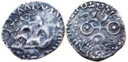 Ancient Coins - INDIA, SATAVAHANA EMPIRE: GAUTAMIPUTA SIRI SATAKANI, AR DRACHM, COUNTERSTRUCK TYPE