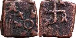 Ancient Coins - INDIA, GUJARAT AREA: REVERSED SWASTIKA TYPE, AE