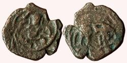 Ancient Coins - INDIA, GINGEE NAYAKAS: ANONYMOUS AE KASU, OBV: KRISNA, REV: BOAR.