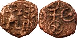 Ancient Coins - INDIA, Ujjain: Standing Human Figure type, AE