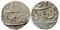 World Coins - INDIA, MUGHAL EMPIRE: Farrukhsiyar (1713-1719 AD), AR Rupee, 11,37 gm, Azamnagar Mint, ND, KM 377.12, Good Fine, Scarce.