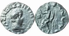 Ancient Coins - India, Indo-Greek: Hermaios imitation, AR/BL drachm,