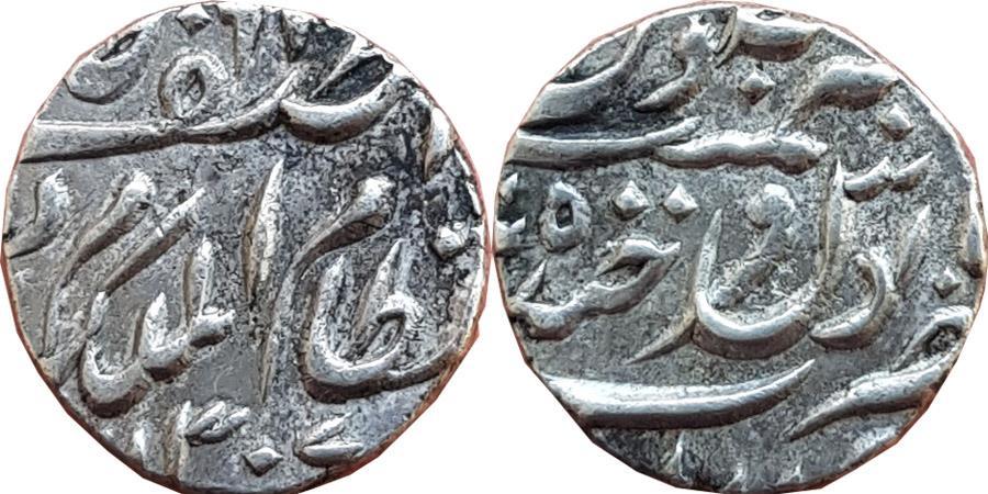 World Coins - HYDERABAD: MIR MAHBUB ALI KHAN, AD 1869-1911, AR 1/4 RUPEE