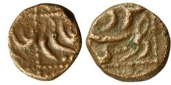 World Coins - NAWABS OF ARCOT: AE  KASU,  2.90G, IN THE NAME OF  ALAMGIR II,TIRUNELVELI MINT.