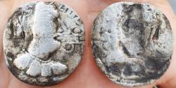 Ancient Coins - HUNNIC TRIBES, Alchon Huns. Khingila. Circa AD 440-490. BI Drachm
