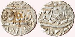 World Coins - Madras Presidency: AR Rupee in the name of Muhammad Shah, Chinapattan Mint, RY-11