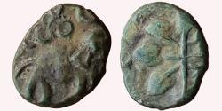 Ancient Coins - INDIA, SATAVAHANA EMPIRE: ELEPHANT TYPE OF SATAKARNI I, LEAD UNIT, NEWASA-PAITHAN REGION