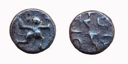 Ancient Coins - INDIA, SINDA DYNASTY OF VIDARBHA: MUNJA (C. 12TH CENTURY), AR ½ DRAMMA