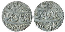 World Coins - INDIA, FARRUKHABAD: Muzaffar Jang (1771-1796 AD), AR Rupee in the name of Shah Alam II, Ahmadnagar Farrukhabad mint,