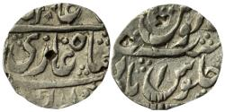 World Coins - HYDERABAD FEUDATORY: NUSRATABAD MINT, AR RUPEE, 11.46G, IN THE NAME OF SHAH ALAM (II)