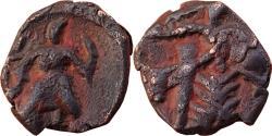 Ancient Coins - INDIA, Kushana Empire: Anonymous  Imitation Of Vasudeva's standing king / Siva & Bull type,  ¼ Copper unit