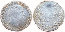 World Coins - PORTUGUESE INDIA: GOA, D. PEDRO V (1853-1861 AD), AR RUPIA