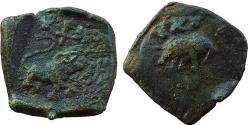 Ancient Coins - INDIA, SATAVAHANA EMPIRE: ANONYMOUS ISSUE OF LION AND ELEPHANT TYPE STRUCK DURING THE PERIOD OF SATAVAHANA, SATAKARNI AND SATI, AE