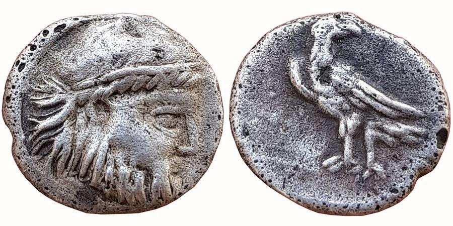 Ancient Coins - BACTRIA, LOCAL ISSUES. CIRCA 285/3-280/78 BC. AR DIOBOL,