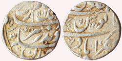 World Coins - Aurangzeb (1658-1707 AD), AR Rupee, Nasirabad Mint, AH 1102 / RY-34, KM # 300.67,