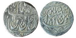 World Coins - INDIA, Bengal East India Company: AR Rupee in the name of Shah Alam II, Dar ul- Sarur Saharanpur Mint, AH 1219/RY-46,