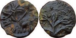 Ancient Coins - INDIA, WESTERN KSATRAPAS: NAHAPANA, ELEPHANT / TREE TYPE, POTIN,