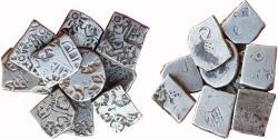 Ancient Coins - ANCIENT INDIA, PUNCHMARKED COINS: MAGADH-MAURYA KARSHAPANA SERIES, MIXED LOT OF NINE (9)