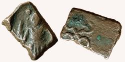 Ancient Coins - INDIA, UJJAIN: SIVA TYPE, AE, OBV: SIVA STANDING, REV: UJJIAN SYMBOL,