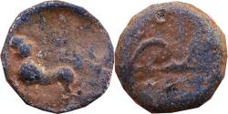 "Ancient Coins - KURAS OF KOLHAPUR:  ANONYMOUS ""BOW AND ARROW"" TYPE LEAD  COIN"