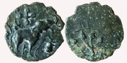 Ancient Coins - INDIA, SATAVAHANA EMPIRE: ELEPHANT TYPE OF GAUTAMIPUTRA SRI-SATAKARNI , COPPER ALLOYED