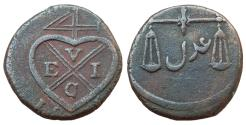 """World Coins - INDIA, BOMBAY PRESIDENCY: AE PICE,O/R, BALE MARK/SCALES,  AND """"ADIL"""","""