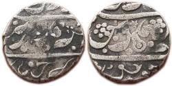 World Coins - MARATHA CONFIDERACY: AR RUPEE, (11.1G, 19MM) IN THE NAME OF AURANGZEB,  CHIKODI MINT,