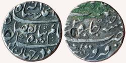 World Coins - INDIA, MUGHAL EMPIRE: Ahmad Shah Bahadur (1748-1754 AD), AR Rupee, 11.43gm, Firoznagar mint, 'Alam Panah' couplet, RY-Ahad,  KM 447.2. About Very Fine, Very Rare.
