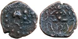 Ancient Coins - KALACHURIS OF MAHISHMATI: KRISNARAJA , AE FRACTIONAL UNIT