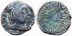 Ancient Coins - INDIA, WESTERN KSATRAPAS: RUDRASEN III, AR DRACHM