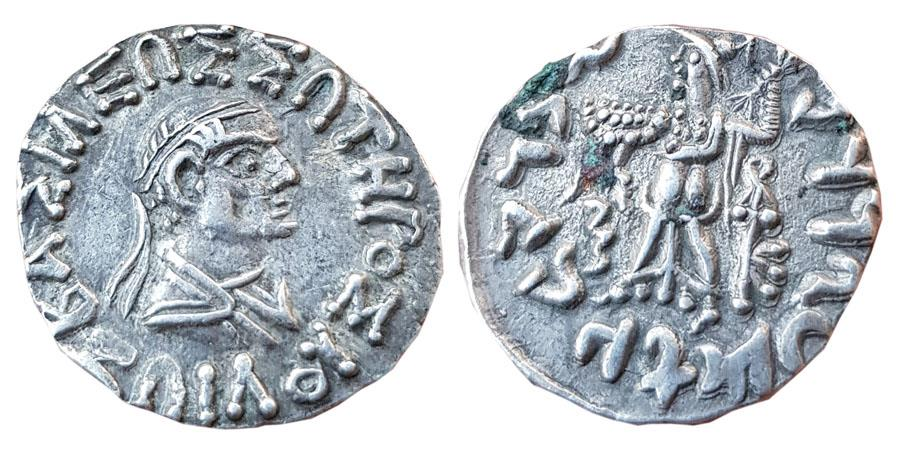 Ancient Coins - INDIA, INDO-GREEKS: Zoilos II Soter. Circa 65-55 BC. AR Drachm