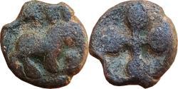 Ancient Coins - INDIA, DECCAN (PRE-SATAVAHANA/SATAVAHANA PERIOD): HORSE AND UJJAIN SYMBOL TYPE, LEAD UNIT,