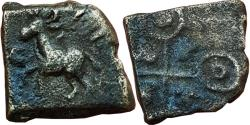 Ancient Coins - INDIA, UJJAIN: HORSE TYPE, AE