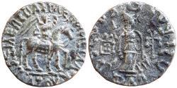 Ancient Coins - INDO-SCYTHIANS:  AZES I C. 58-12 BC. AR DRACHM