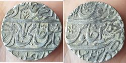 World Coins - INDIA, MARATHA CONFEDERACY: AR Rupee In The Name Of Shah Alam II, Ravish Nagar Sagar, RY-25, , First  Design Less, Empty Flag Type, KM # 238, 11,07gm, AVF.
