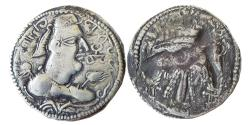 Ancient Coins - INDIA, HUNNIC TRIBES, Alchon Huns: Khingila. Circa AD 440-490. AR Drachm,