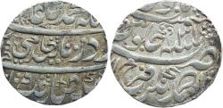"World Coins - BENGAL PRESIDENCY: AR RUPEE, 11.12G, 24MM, IN THE NAME OF SHAH ALAM II, ""TRANSITIONAL' COINAGE"", FARRUKHABAD MINT"