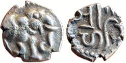 Ancient Coins - CHALUKYAS OF GUJARAT:  RANA HASTIN, (ca. 10th - early 11th Century), AR DAMMA