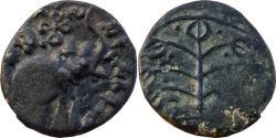 Ancient Coins - INDIA, SATAVAHANA EMPIRE: KOCHIPUTRA SATAKARNI (c.50 AD),  ELEPHANT TYPE, NASIK REGION, COPPER ALLOYED