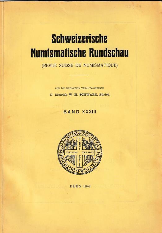 """Ancient Coins - Mattingly H., Nummus und As Ein Beitrage zur fruhromischen Munzpragung. Reprinted from """"Revue Siuisse de   Numismatique Band XXXIII"""""""