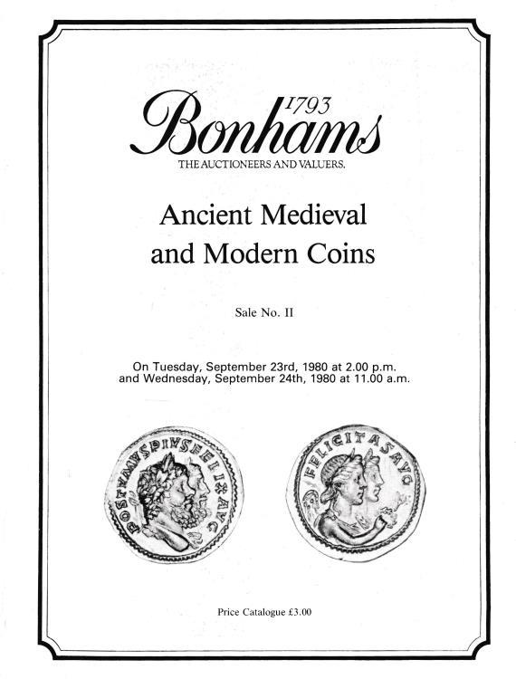 Ancient Coins - Bonhams, Ancient Medieval and Modern Coins Sale No. 11
