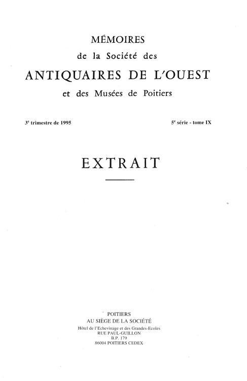 Ancient Coins - Jeanne-Rose O., La Monnaie en Poitou au Debut de l'Epoque Feodale (Fin IX-Milieu XI Siecle)