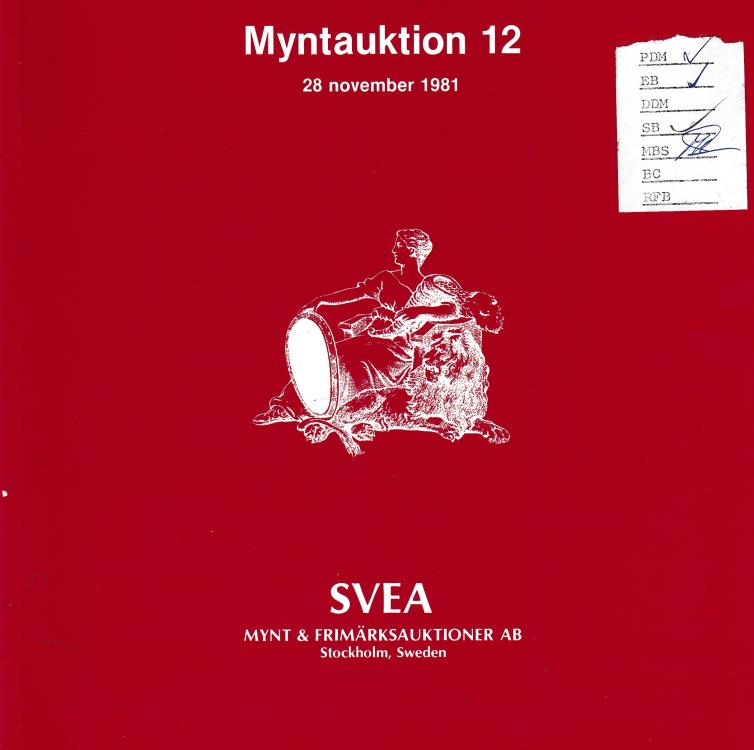 Ancient Coins - Svea Mynt & Frimarkshandel AB, Myntauktion 12