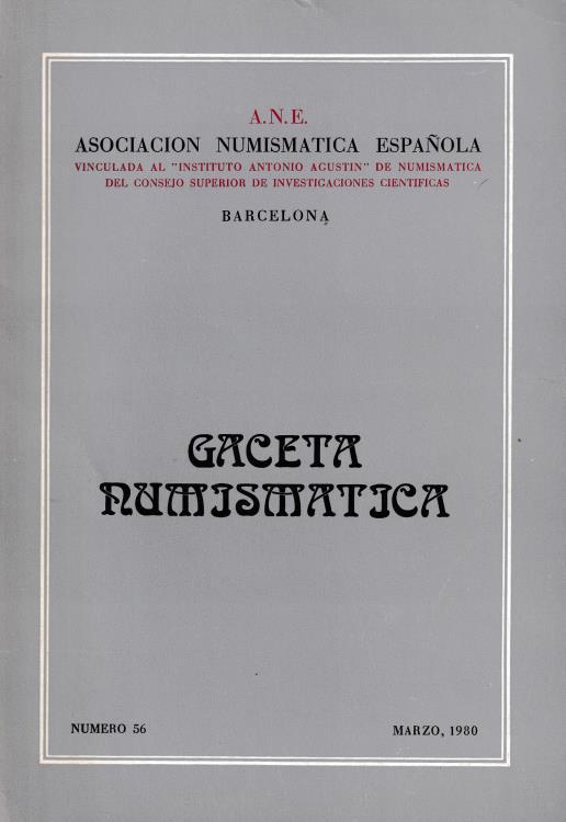 Ancient Coins - Gaceta Numjsmatjca Asociacion Numismatica Espanola Barcelona Numero 56