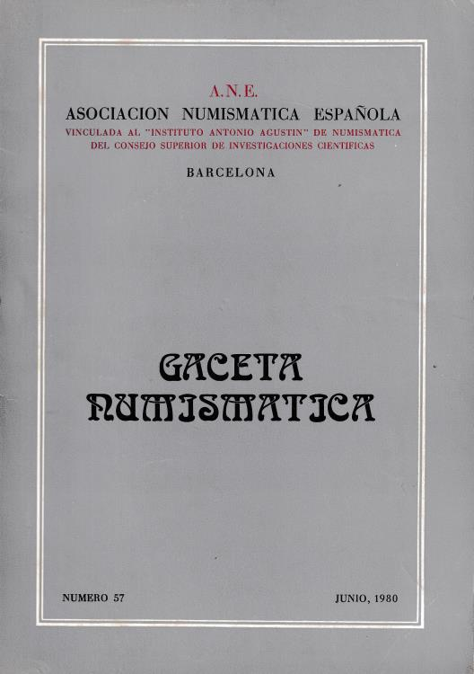 Ancient Coins - Gaceta Numjsmatjca Asociacion Numismatica Espanola Barcelona Numero 57