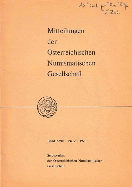 """Ancient Coins - Dembski G., Zwei Romische Bleitesserae aus Carnuntum. Reprinted from """"Mitteilungen der Osterreichischen Numismatischen Gesellschaft Band XVIII Nr. 2"""""""