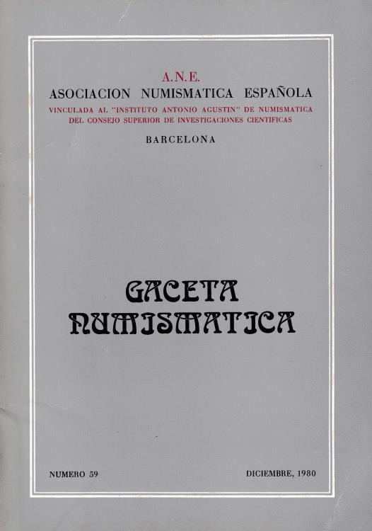 Ancient Coins - Gaceta Numjsmatjca Asociacion Numismatica Espanola Barcelona Numero 59