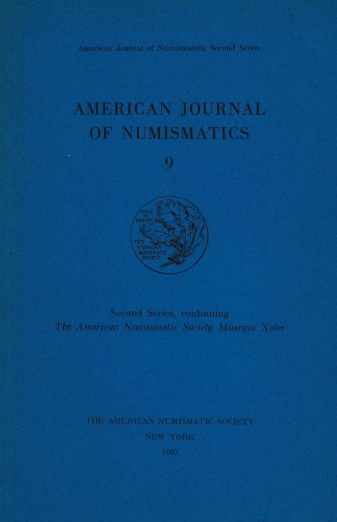 Ancient Coins - American Journal of Numismatics 9 Second Series, continuing The American Numismatic Society Museum Notes